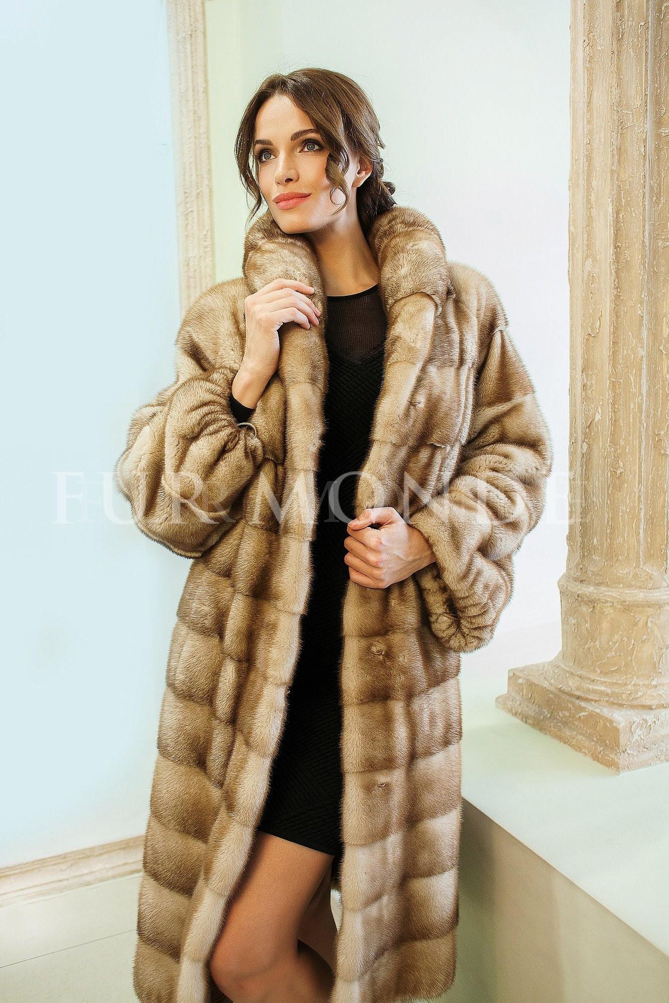 Норковая шуба SAGA furs 110 см 13848