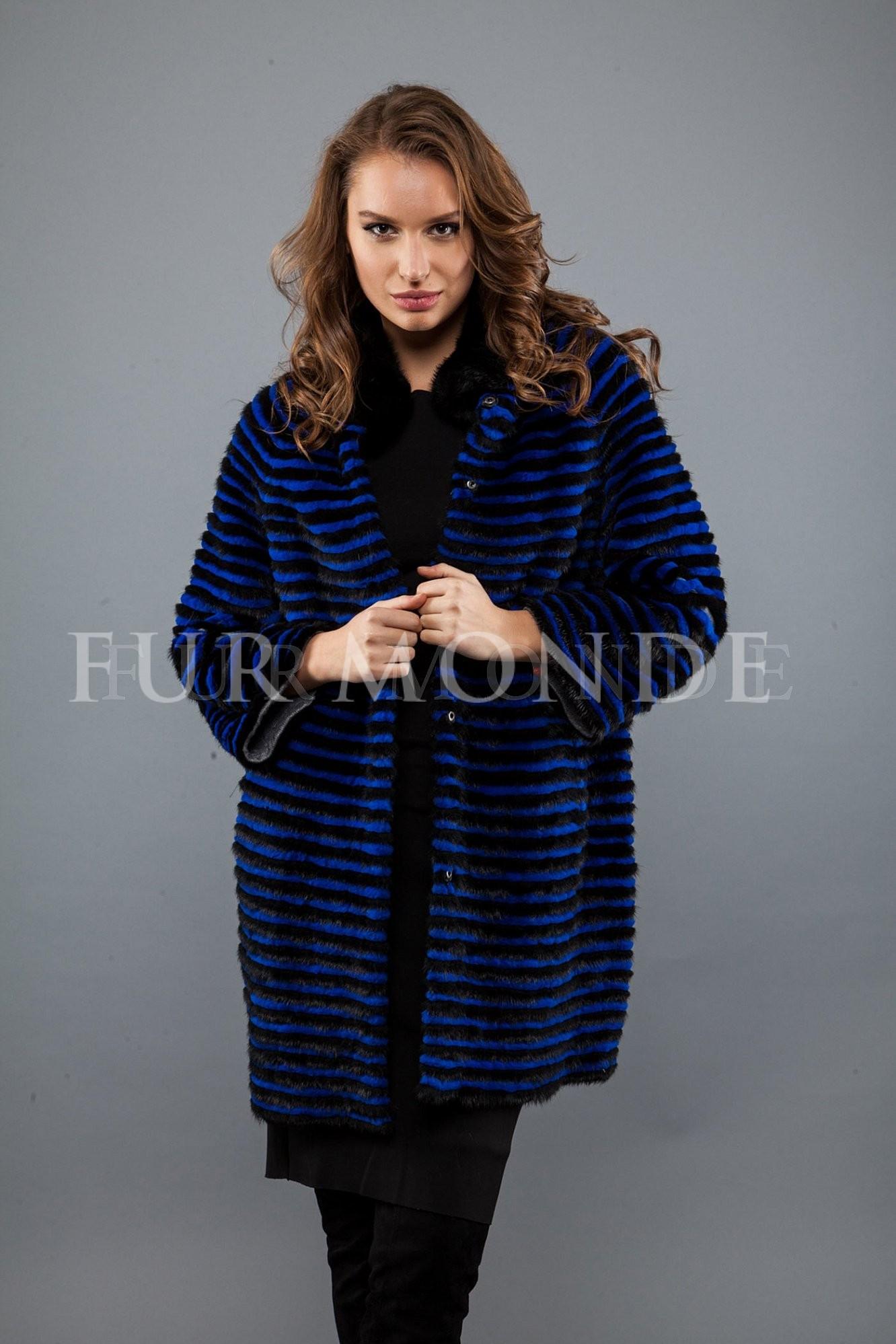Пальто из меха норки 725-242
