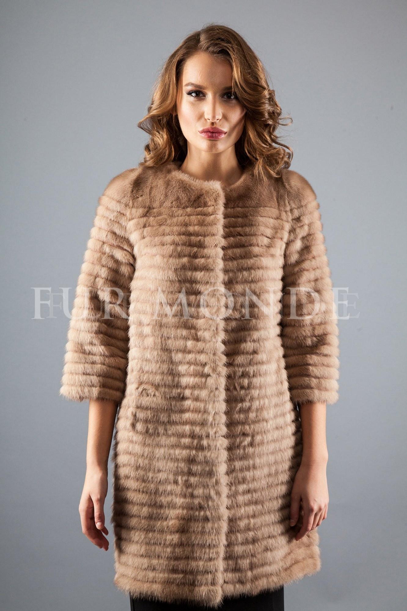Пальто из меха норки 725-251
