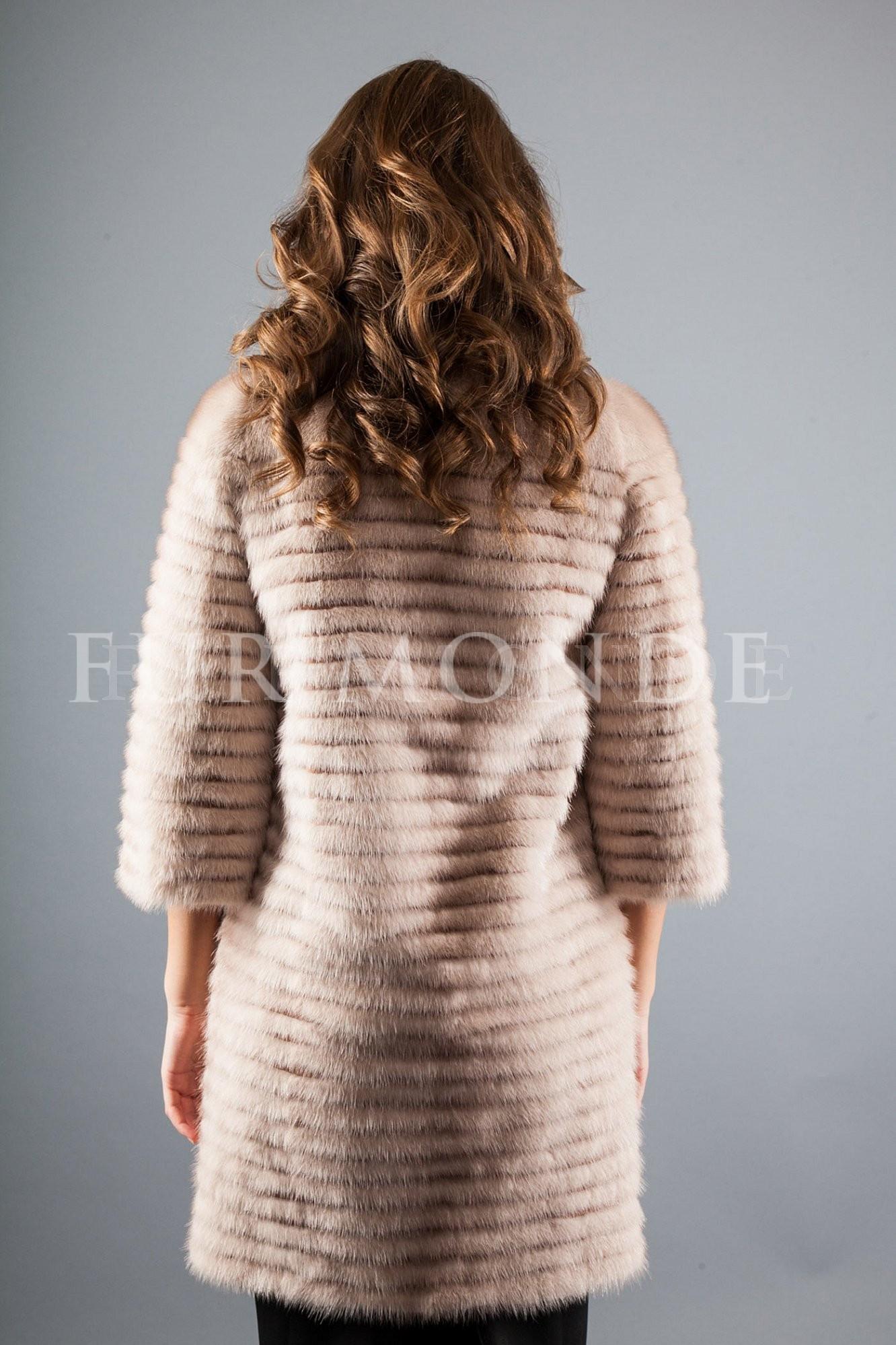 Пальто из меха норки 725-252