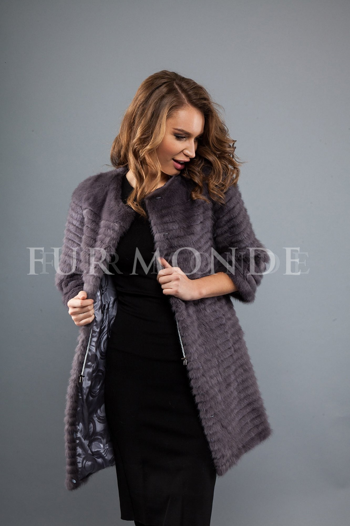 Пальто из меха норки 80 см 725-231