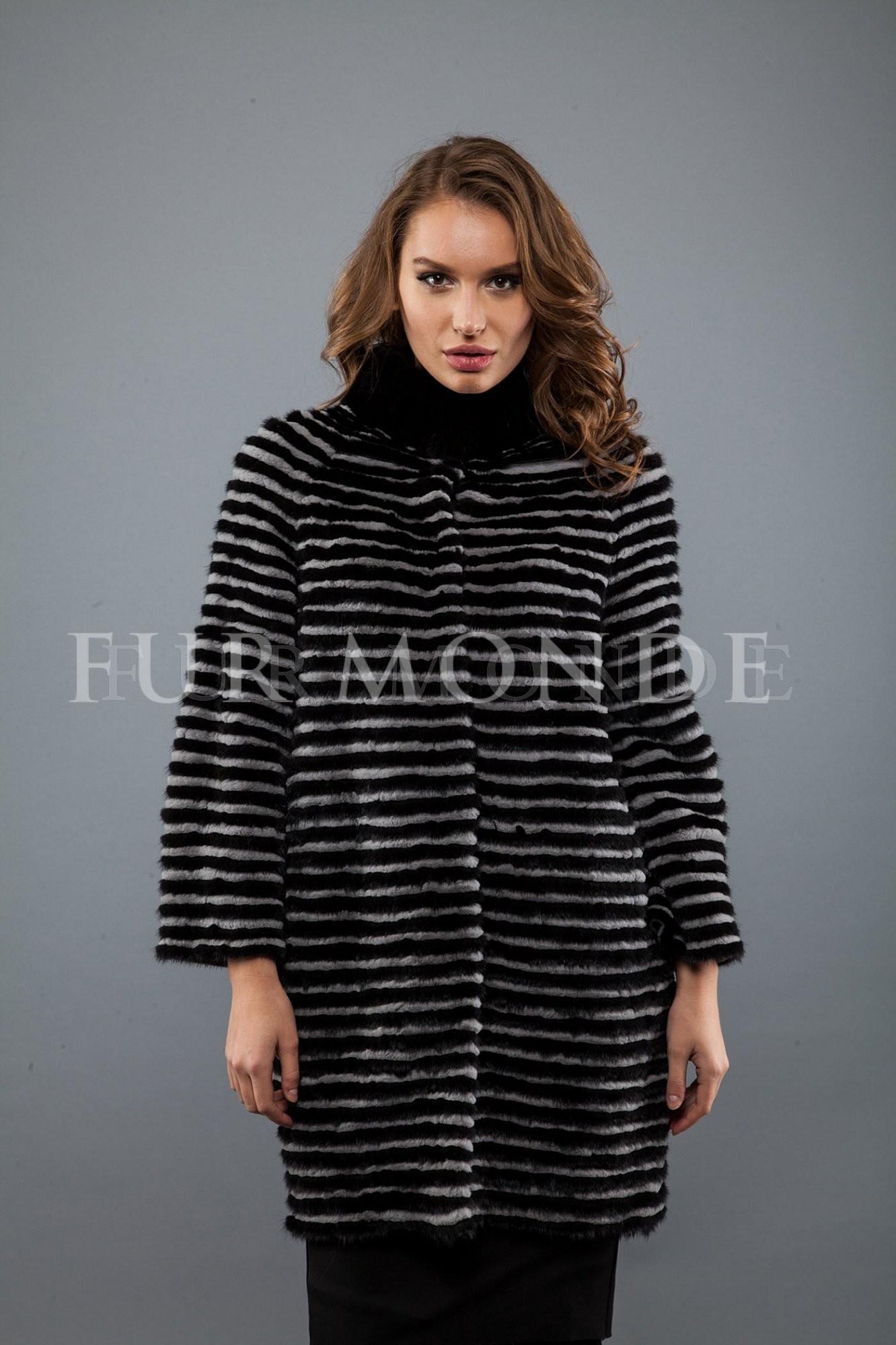Пальто из меха норки 725-241