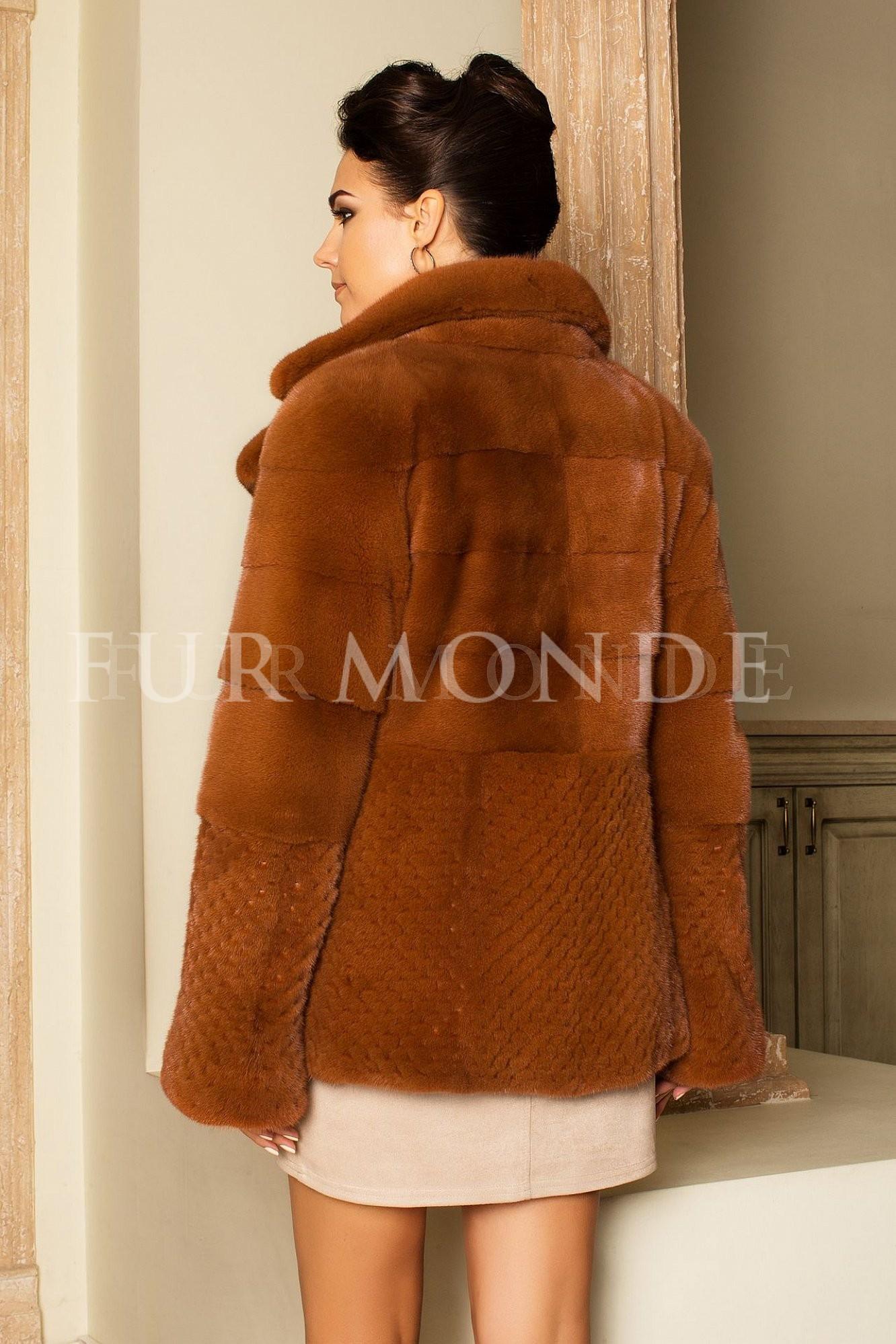 Норковая шуба 70 см Kopenhagen Furs 14459